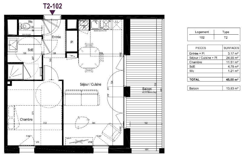 Location appartement Beaucouze 470€ CC - Photo 1