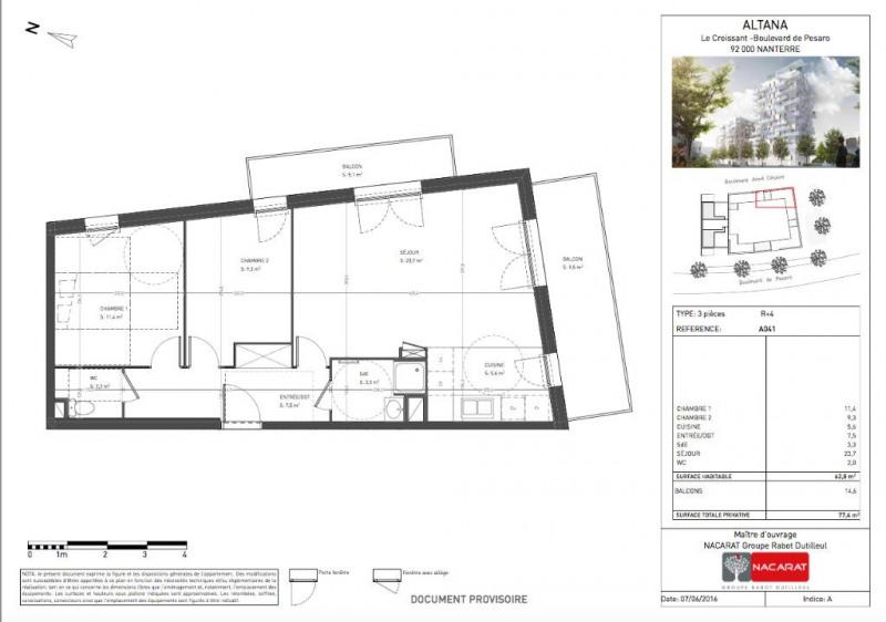 vente appartement 3 pi ce s nanterre 62 m avec 2 chambres 324 606 euros les agents de. Black Bedroom Furniture Sets. Home Design Ideas