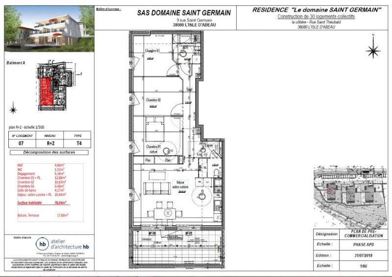 Sale apartment L isle d abeau 178500€ - Picture 3