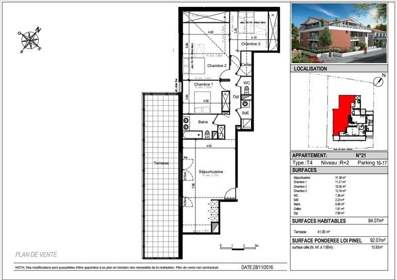 Vente appartement Toulouse 348500€ - Photo 4