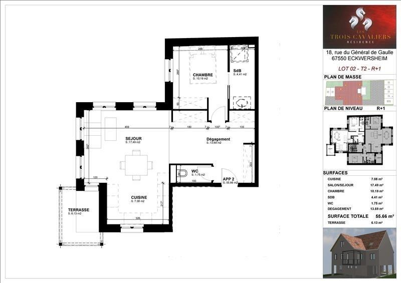 Vente appartement Eckwersheim 162200€ - Photo 2