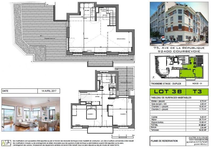 Sale apartment Courbevoie 740000€ - Picture 1