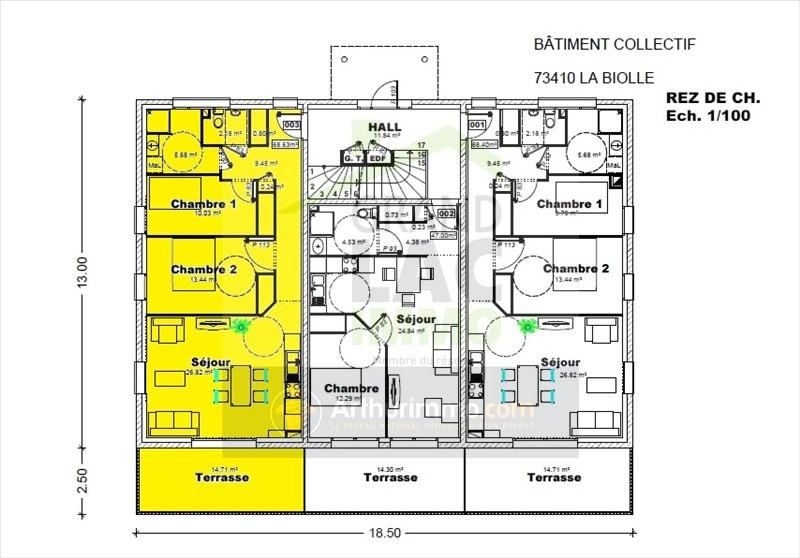 Sale apartment La biolle 243620€ - Picture 2