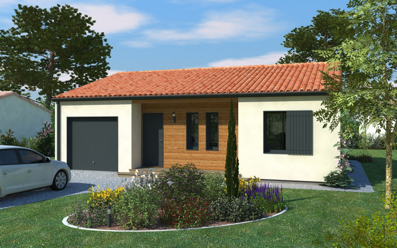 Maison  5 pièces + Terrain 483 m² Nouaillé-Maupertuis par DELRIEU CONSTRUCTION