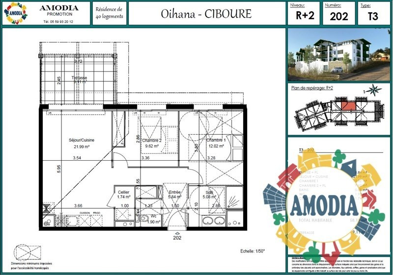 Vente appartement Ciboure 234000€ - Photo 1