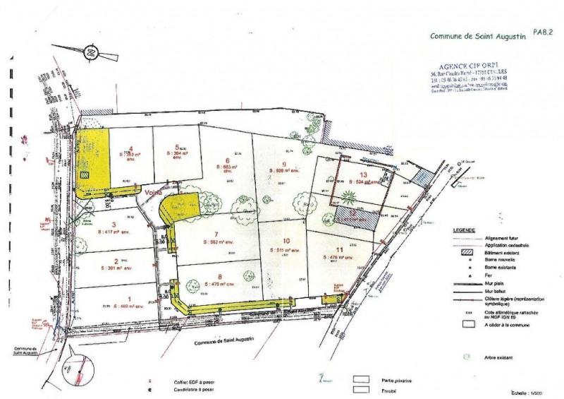 Sale site Saint augustin 91000€ - Picture 1