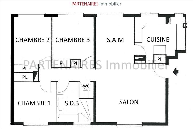 Sale apartment Le chesnay 290000€ - Picture 8