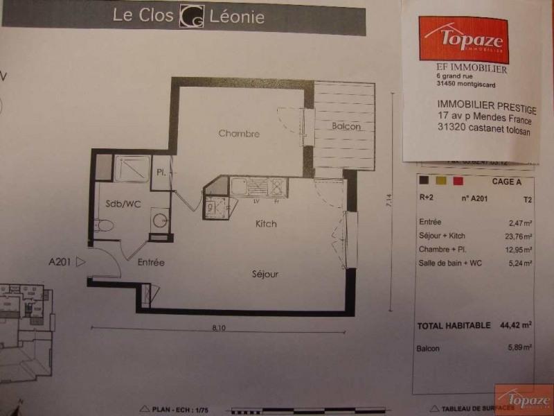Vente appartement Castanet-tolosan 174900€ - Photo 2