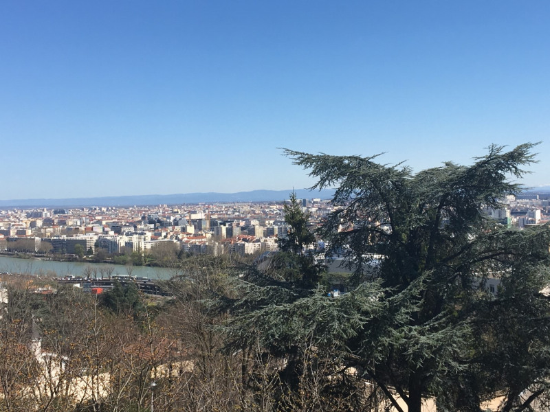 Vue magnifique sur Lyon et les Alpes