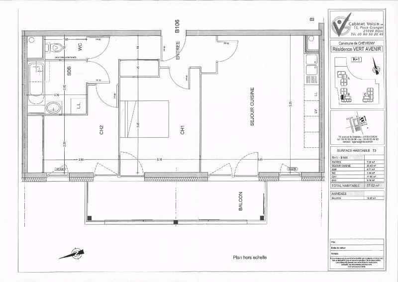 Location appartement Chevigny st sauveur 689€ CC - Photo 3