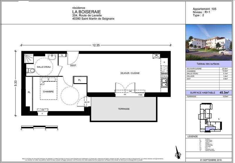 Vente appartement St martin de seignanx 155000€ - Photo 2