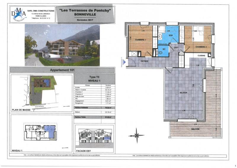 Vente appartement Bonneville 242000€ - Photo 2