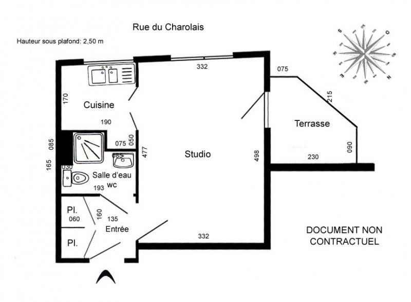Rental apartment Paris 12ème 860€ CC - Picture 3