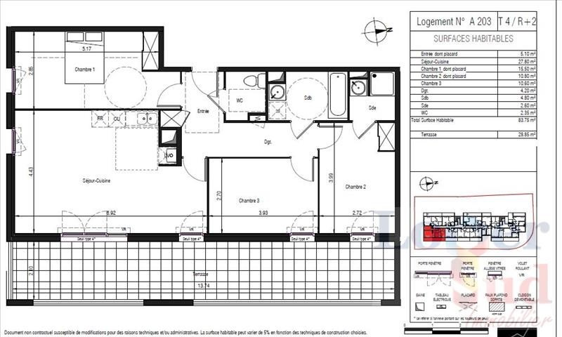 Deluxe sale apartment Lattes 399 000€ - Picture 4