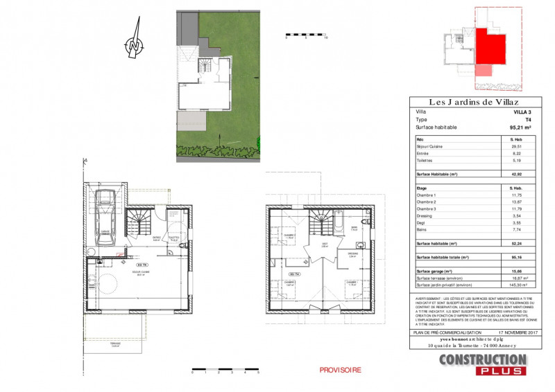 Vente maison / villa Villaz 385000€ - Photo 3