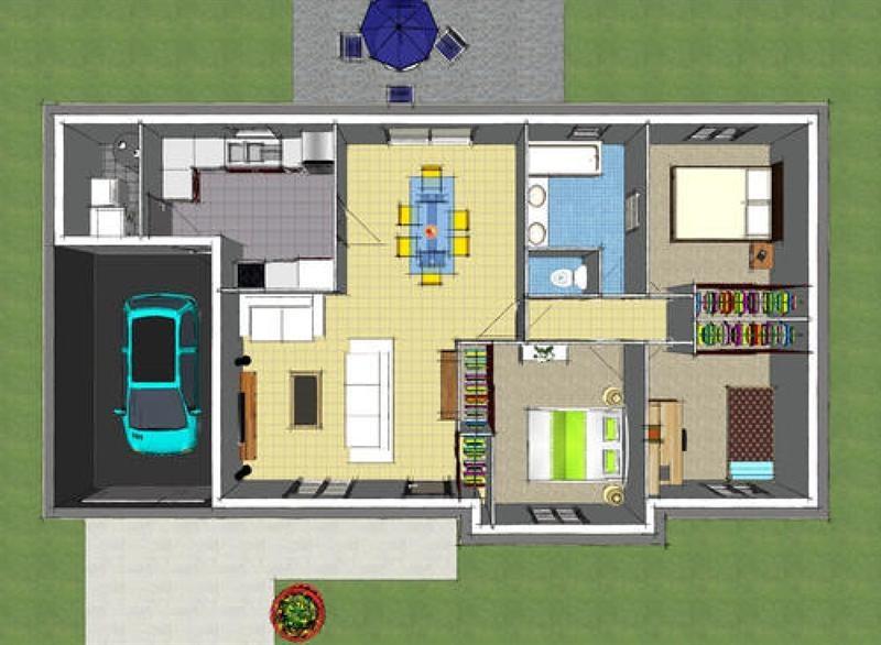 Maison  4 pièces + Terrain 1000 m² Huisseau-en-Beauce par maisons ericlor