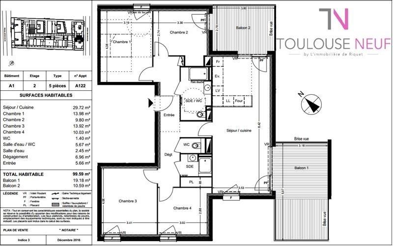 Vente appartement Balma 322000€ - Photo 9