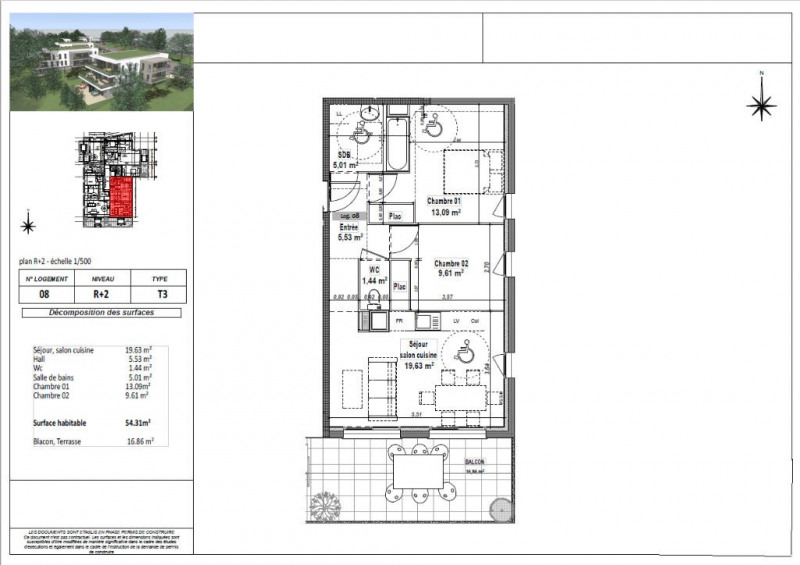 Sale apartment L isle d abeau 162750€ - Picture 3