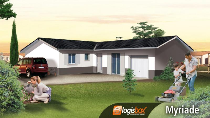 """Modèle de maison  """"Villa Plain-Pied 4 Chambres 115m² avec Garage"""" à partir de 5 pièces Gers par LOGISBOX"""