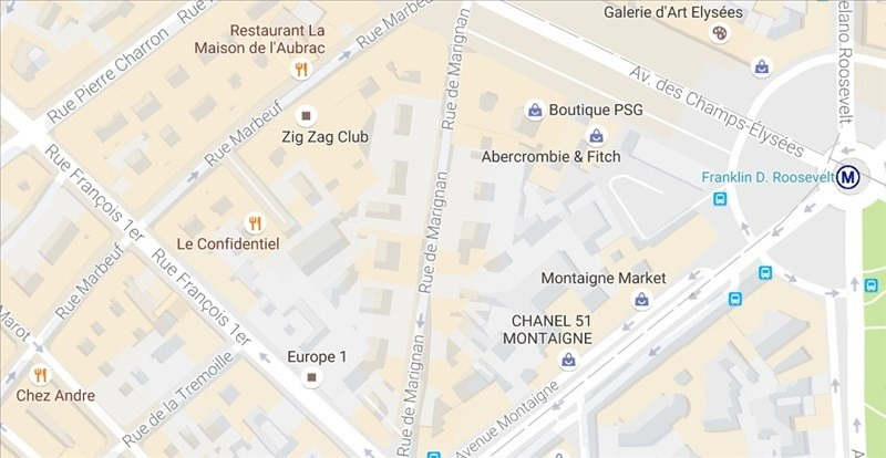 Commercial property sale shop Paris 8ème 440 000€ - Picture 1