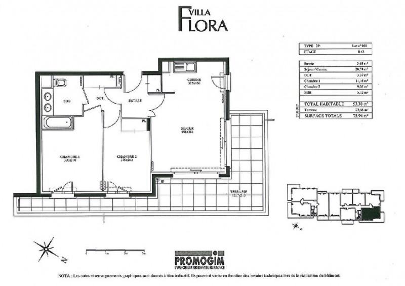 Rental apartment Cagnes sur mer 1056€ CC - Picture 2