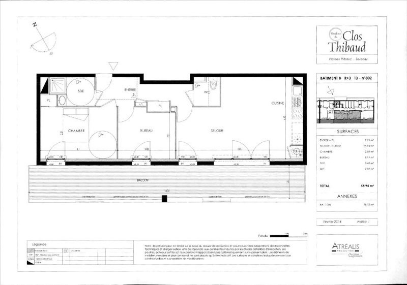 Location appartement Savenay 565€cc - Photo 3