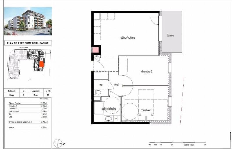 Sale apartment Bourgoin jallieu 175000€ - Picture 2