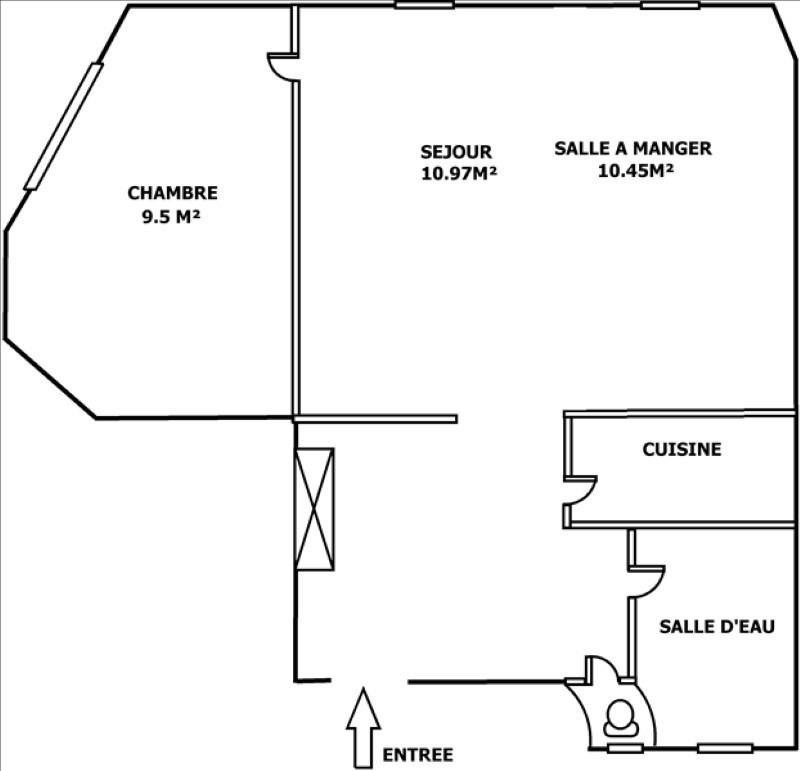 Sale apartment Courbevoie 345000€ - Picture 6