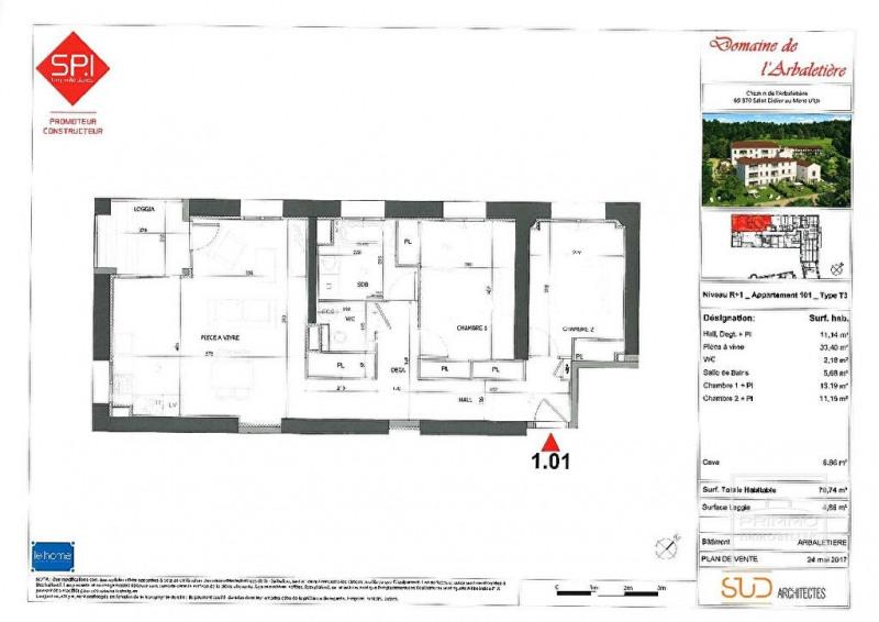 Sale apartment Lyon 9ème 410000€ - Picture 2