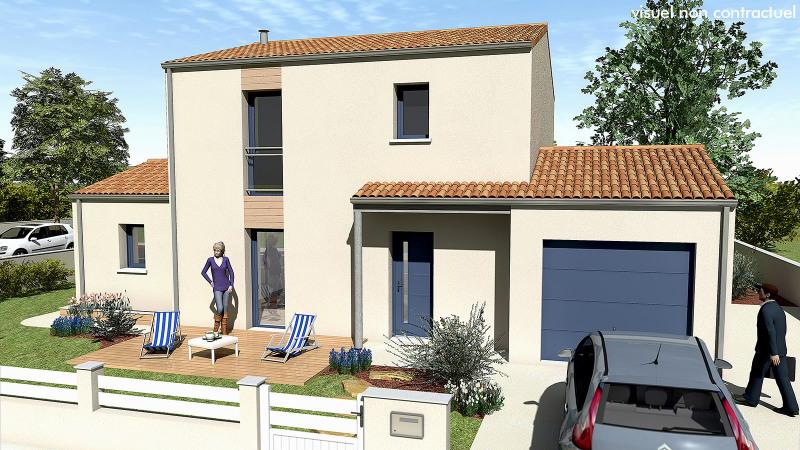 """Modèle de maison  """"Maison 3 chambres à étage"""" à partir de 4 pièces Charente-Maritime par MAISONS DU MARAIS - AGENCE DE NIORT"""