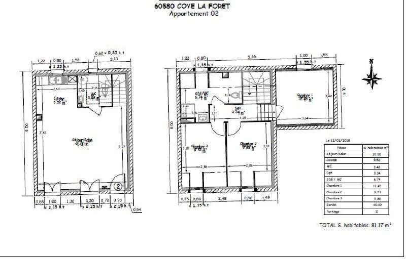 Sale apartment Coye la foret 319137€ - Picture 4