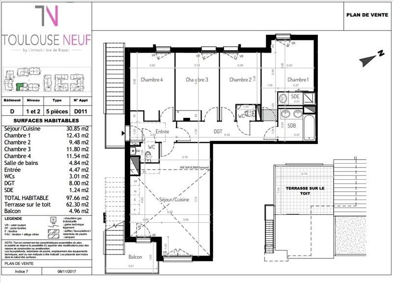 Vente appartement Tournefeuille 309000€ - Photo 10