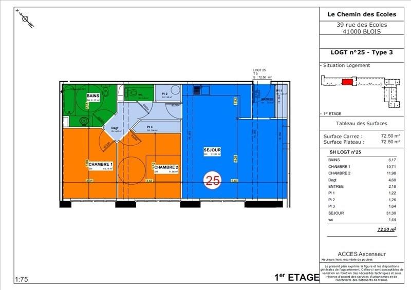 Sale apartment Blois 159500€ - Picture 1