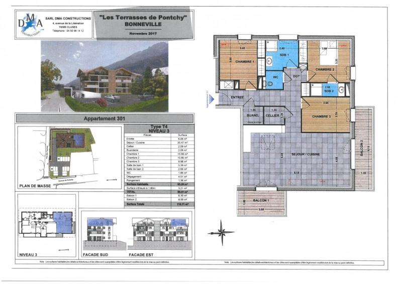 Vente appartement Bonneville 329000€ - Photo 2