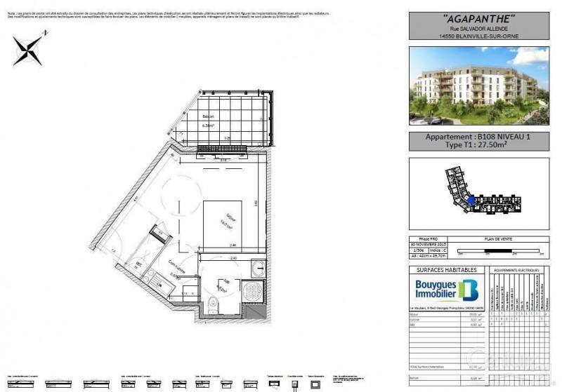 Locação apartamento Blainville sur orne 490€ CC - Fotografia 2