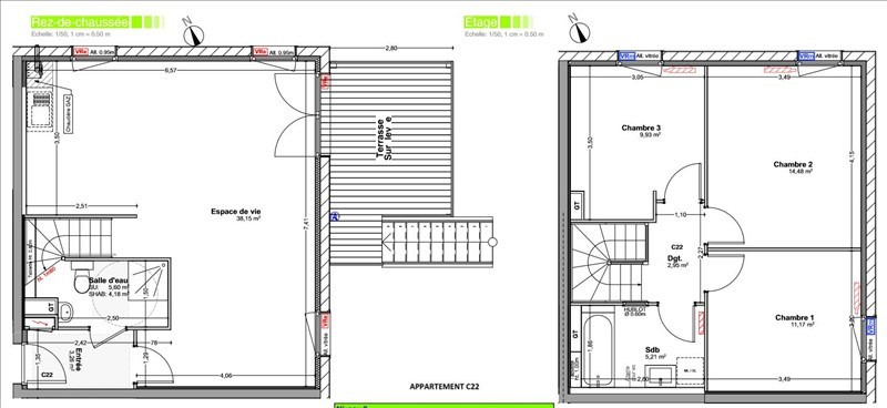 Venta  casa Vetraz monthoux 420000€ - Fotografía 2