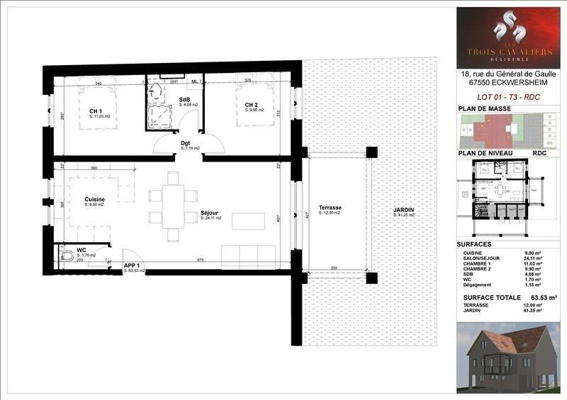 Venta  apartamento Eckwersheim 185000€ - Fotografía 2