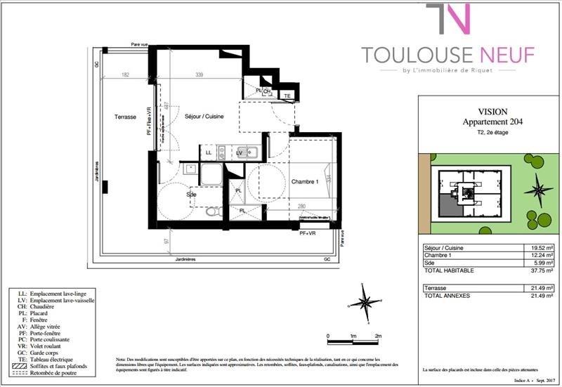 Vente appartement Toulouse 186000€ - Photo 4