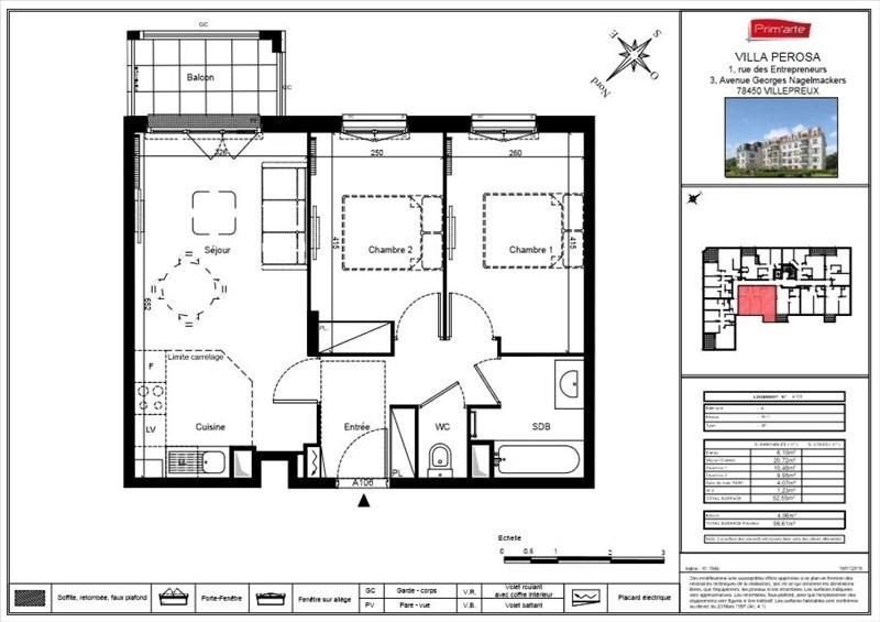 Sale apartment Villepreux 209000€ - Picture 3