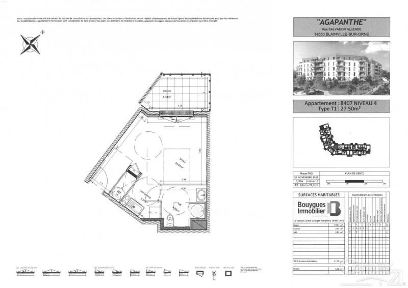 Locação apartamento Blainville sur orne 360€ CC - Fotografia 2