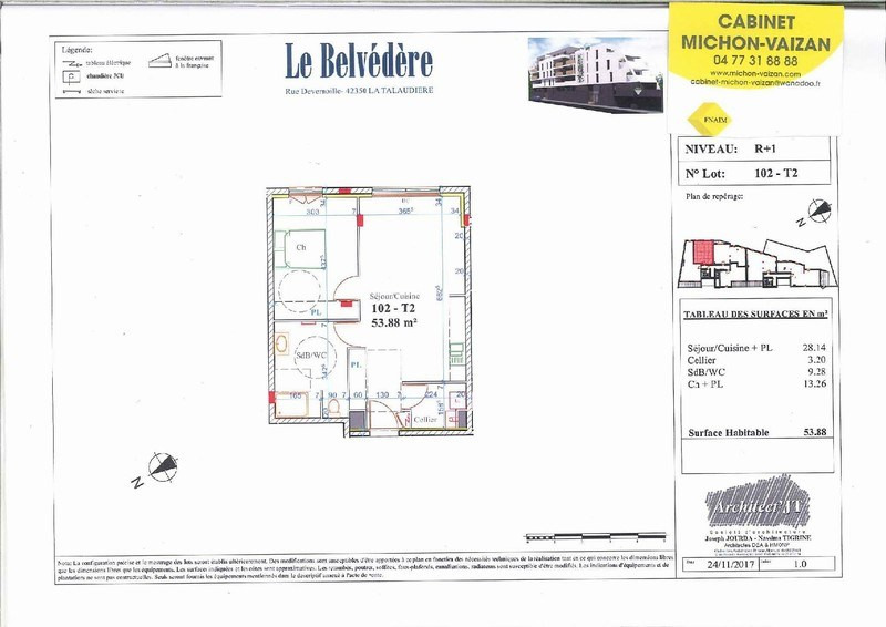 Vente appartement La talaudiere 138 000€ - Photo 2