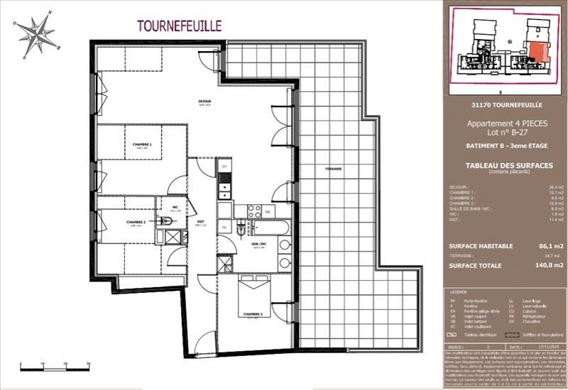 Vente appartement Tournefeuille 309000€ - Photo 9