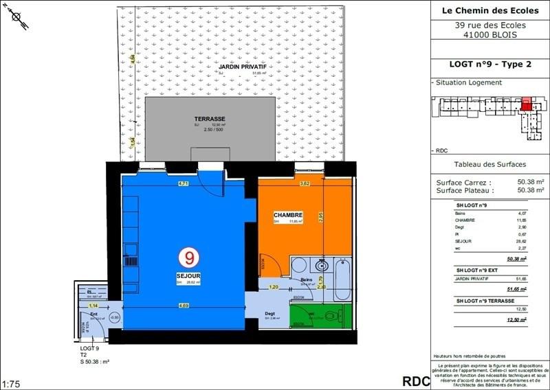 Sale apartment Blois 119500€ - Picture 1