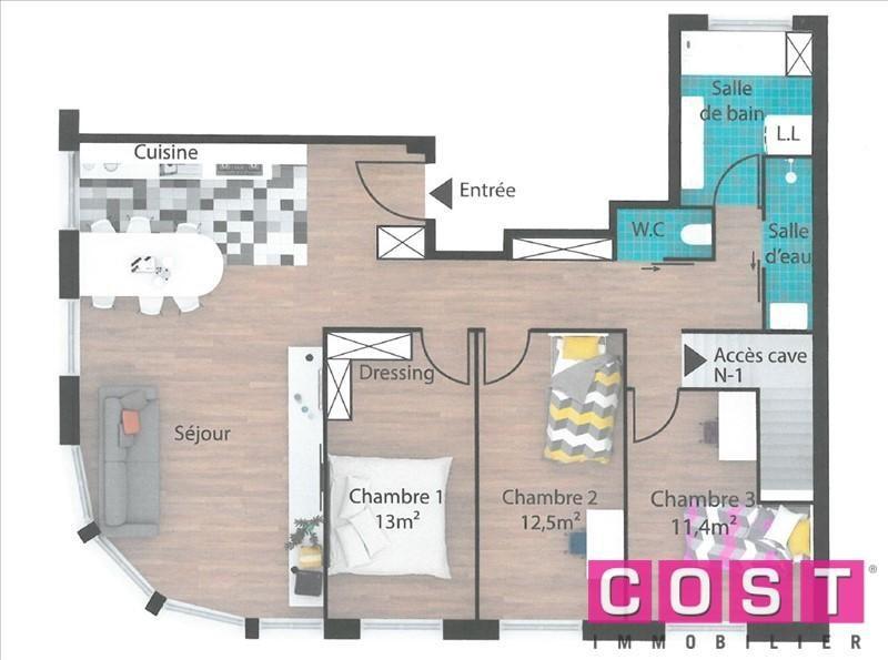 Venta  apartamento Bois colombes 428000€ - Fotografía 1