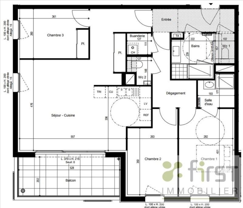 Vente appartement Vetraz monthoux 473000€ - Photo 2