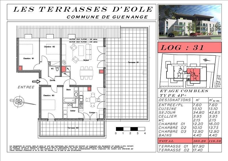Vente appartement Guenange 261690€ - Photo 3