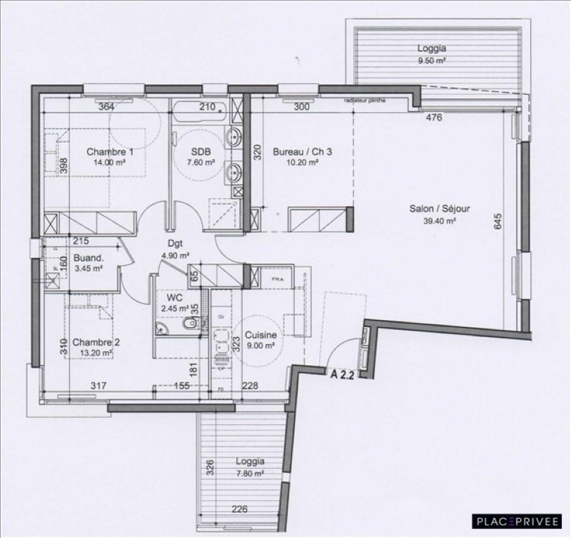 Sale apartment Nancy 355000€ - Picture 2