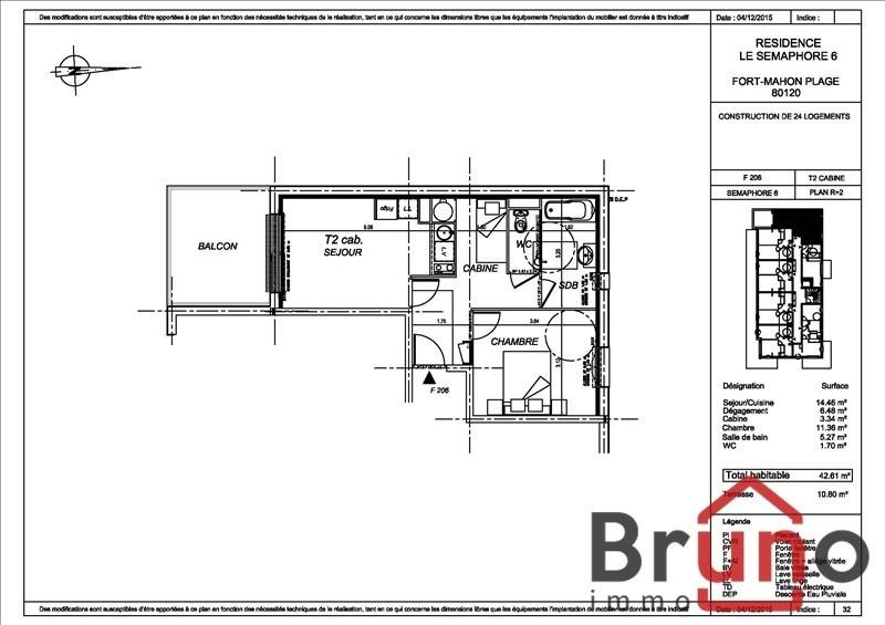 Vente appartement Fort mahon plage 179000€ - Photo 1