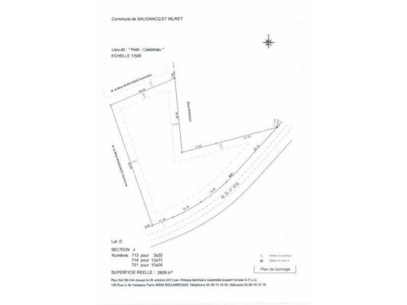 Verkoop  stukken grond Saugnacq-et-muret 63000€ - Foto 1