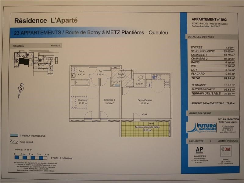 Location appartement Metz 855€ CC - Photo 5
